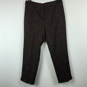 Jones New York Signature 12 Brown Pants 4K16